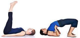 Postures yoga trompes fallope bouchees
